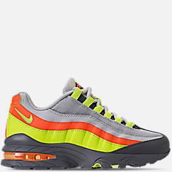 나이키 보이즈 에어맥스 95 캐쥬얼 운동화 Boys Grade School Nike Air Max 95 Casual Shoes,Vast Grey/Volt/Gunsmoke/Total Orange