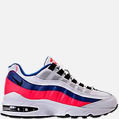 나이키 보이즈GS 에어 맥스 95 (화이트/울트라마린/솔라 레드) Boys Grade School Nike Air Max 95 Casual Shoes, White/Ultramarine/Solar Red - 905348 103