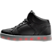 Left view of Boys' Preschool Skechers Energy Lights Light-Up Running Shoes in Black