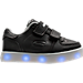 Left view of Boys' Toddler Skechers Energy Lights Gusto Casual Shoes in Black/White