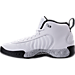Left view of Men's Air Jordan Jumpman Pro Basketball Shoes in White/Black/Wolf Grey/Metallic Silver