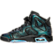 Left view of Boys' Grade School Air Jordan Retro 6 Basketball Shoes in Black/White/Black Hornet