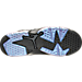 Bottom view of Boys' Grade School Air Jordan Retro 6 Basketball Shoes in Black/White/Black Hornet