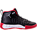 Right view of Boys' Grade School Jordan Jumpman Pro Basketball Shoes in Black/Metallic Silver/Varsity Red