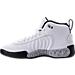 Left view of Boys' Grade School Jordan Jumpman Pro Basketball Shoes in White/Black/Wolf Grey/Metallic