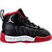 Right view of Boys' Toddler Jordan Jumpman Pro Basketball Shoes in Black/Metallic Silver/Varsity Red