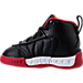 Left view of Boys' Toddler Jordan Jumpman Pro Basketball Shoes in Black/Metallic Silver/Varsity Red