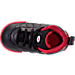 Top view of Boys' Toddler Jordan Jumpman Pro Basketball Shoes in Black/Metallic Silver/Varsity Red