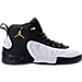 Right view of Boys' Preschool Jordan Jumpman Pro Basketball Shoes in Black/Metallic Gold/White/Black