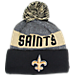 Front view of New Era New Orleans Saints NFL 2016 Sideline Official Sport Knit Hat in Team Colors