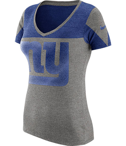 Women's Nike New York Giants NFL Championship Drive 2.0 Tri-Blend T-Shirt