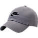 Front view of Nike Sportswear H86 Washed Futura Adjustable Back Hat in Cool Grey/Black
