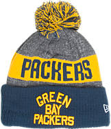 New Era Green Bay Packers NFL Sideline Classic Pom Knit Hat