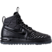 Right view of Men's Nike Lunar Force 1 2017 Duckboots in Black/Anthracite