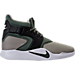 Right view of Men's Nike Incursion Basketball Shoes in Pale Grey/River Rock/Black