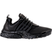 Right view of Women's Nike Air Presto Ultra SI Casual Shoes in Black/Dark Grey/Metallic Silver