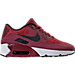 Right view of Boys' Grade School Nike Air Max 90 Ultra 2.0 SE Casual Shoes in Team Red/Black/Dark Grey