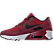 Left view of Boys' Grade School Nike Air Max 90 Ultra 2.0 SE Casual Shoes in Team Red/Black/Dark Grey