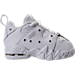 Right view of Boys' Toddler Nike Air Max CB '94 Low Basketball Shoes in White/White/White