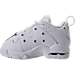 Left view of Boys' Toddler Nike Air Max CB '94 Low Basketball Shoes in White/White/White