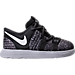 Right view of Boys' Toddler Nike KD 10 Basketball Shoes in Black/White