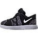 Left view of Boys' Toddler Nike KD 10 Basketball Shoes in Black/White