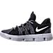 Left view of Boys' Preschool Nike KD 10 Basketball Shoes in Black/White
