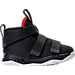 Right view of Boys' Toddler Nike LeBron Soldier 11 Basketball Shoes in Black/White/University Red
