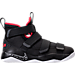 Right view of Boys' Grade School Nike LeBron Soldier 11 Basketball Shoes in Black/White/University Red
