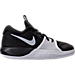 Right view of Boys' Preschool Nike Assersion Basketball Shoes in Black/White