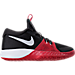 Right view of Boys' Grade School Nike Zoom Assersion Running Shoes in Black/White/Gym Red