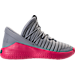 Right view of Girls' Grade School Jordan Flight Luxe (23.5y - 9.5y) Shoes in Wolf Grey/Cool Grey/Deadly Pink
