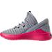 Left view of Girls' Grade School Jordan Flight Luxe (3.5y - 9.5y) Shoes in Wolf Grey/Cool Grey/Deadly Pink