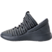 Left view of Boys' Grade School Jordan Flight Luxe Shoes in Cool Grey/Wolf Grey/Cool Grey