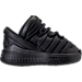 Right view of Boys' Toddler Jordan Flight Luxe Shoes in Black/Anthracite/Black