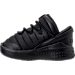 Left view of Boys' Toddler Jordan Flight Luxe Shoes in Black/Anthracite/Black
