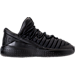 Right view of Boys' Preschool Jordan Flight Luxe Shoes in Black/Anthracite/Black