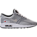 Right view of Boys' Grade School Nike Air Max Zero OG Casual Shoes in Silver/Silver