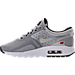 Left view of Boys' Grade School Nike Air Max Zero OG Casual Shoes in Silver/Silver