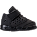 Right view of Boys' Toddler Jordan Flight Origin 4 Basketball Shoes in Black/Black/Black