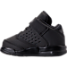 Left view of Boys' Toddler Jordan Flight Origin 4 Basketball Shoes in Black/Black/Black