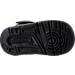 Bottom view of Boys' Toddler Jordan Flight Origin 4 Basketball Shoes in Black/Black/Black