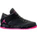 Right view of Girls' Preschool Jordan Flight Origin 4 Basketball Shoes in Anthracite/Deadly Pink/Black