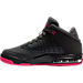 Left view of Girls' Grade School Jordan Flight Origin 4 (3.5y - 9.5y) Basketball Shoes in Anthracite/Deadly Pink/Black