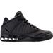 Right view of Boys' Grade School Jordan Flight Origin 4 Basketball Shoes in Black/Black/Black