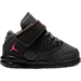 Right view of Girls' Toddler Jordan Flight Origin 4 Basketball Shoes in Anthracite/Deadly Pink/Black