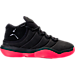 Right view of Boys' Grade School Jordan Super.Fly 2017 Basketball Shoes in Black/Infrared