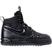 Right view of Boys' Grade School Nike Lunar Force 1 Duckboot '17 Boots in Black/Anthracite