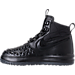 Left view of Boys' Grade School Nike Lunar Force 1 Duckboot '17 Boots in Black/Anthracite