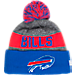 Front view of New Era Buffalo Bills NFL 2016 Sideline Official Sport Knit Hat in Team Colors